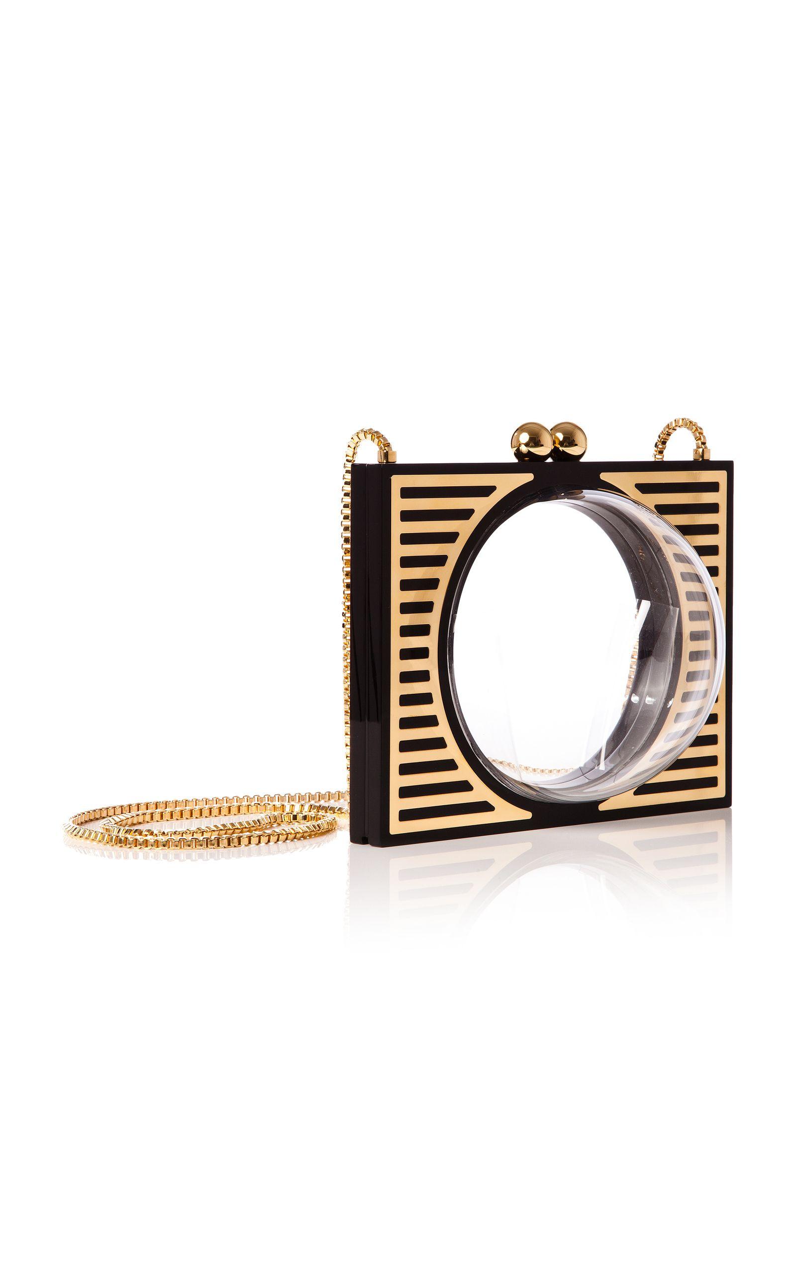 "JUDITH LEIBER  Golden   Large Mirror   2.5/"" Dia"