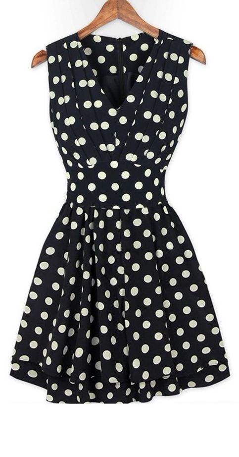 Retro dot dress