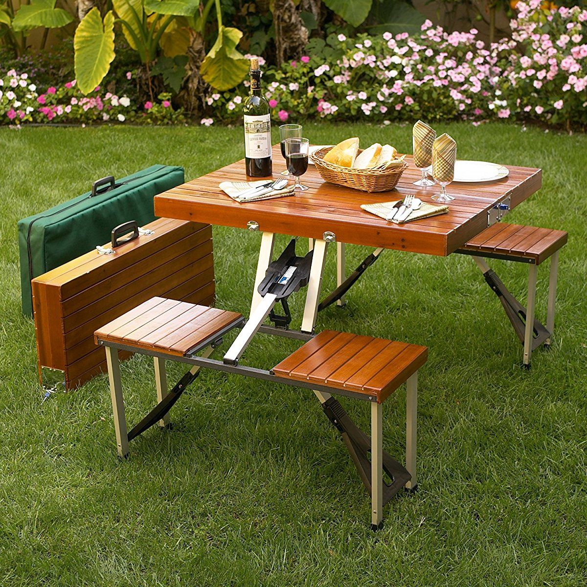 Picnic At Ascot Portable Picnic Table Set Folding Picnic Table