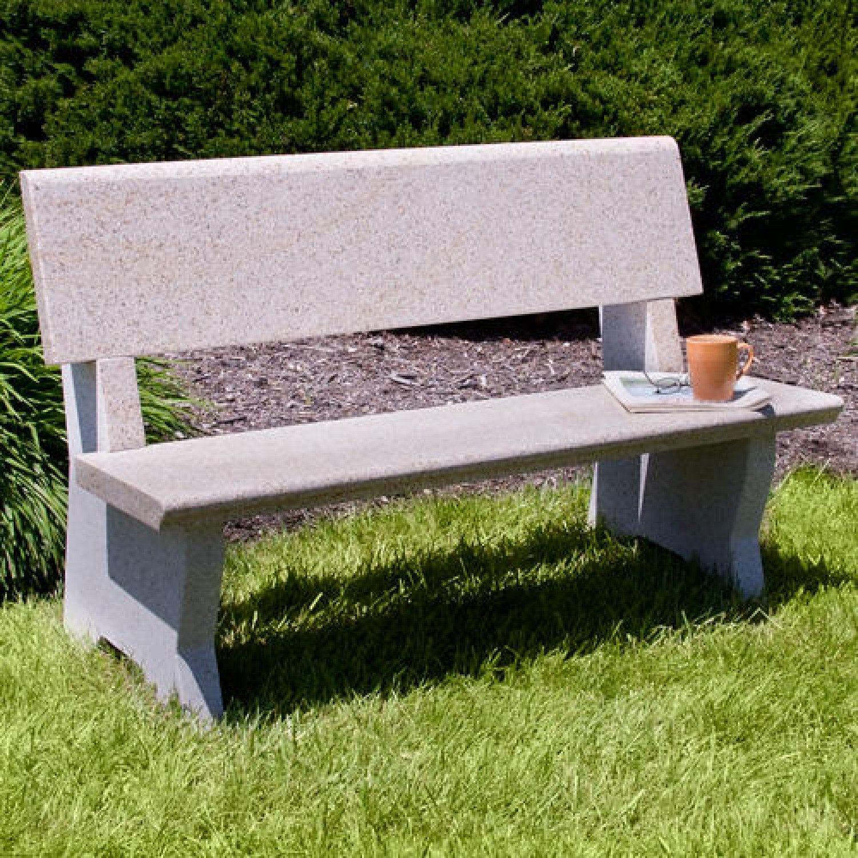 Arborside Polished Granite Bench Outdoor Outdoor Memorial Benches Outdoor Bench