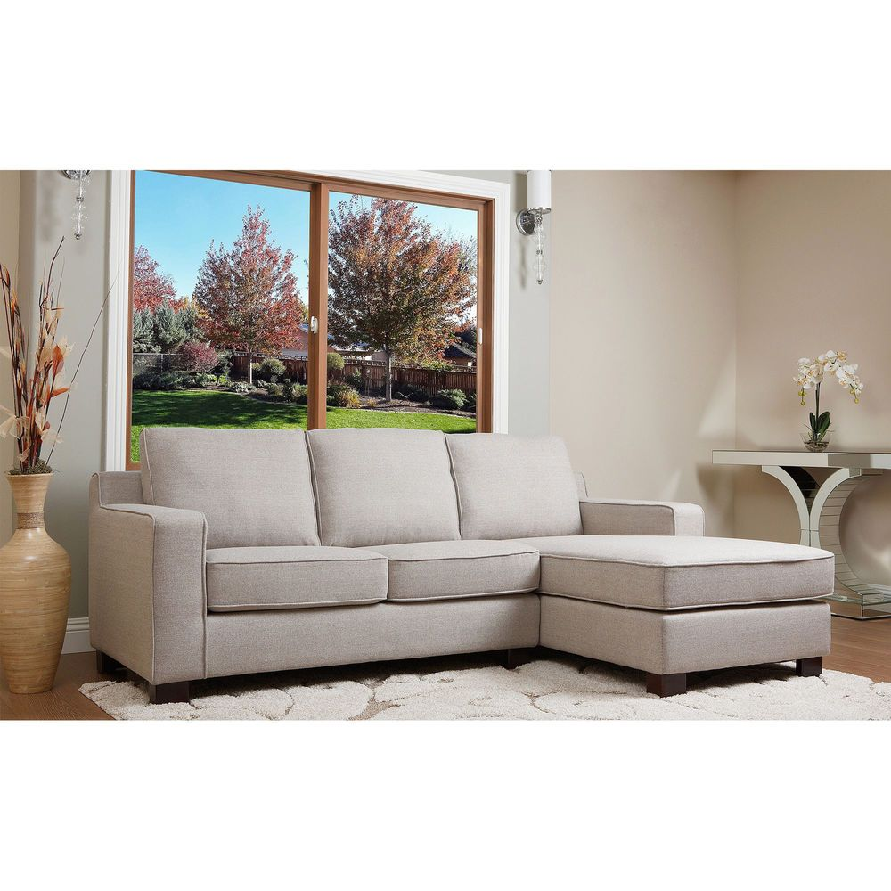 Best Abbyson Living Beverly Grey Fabric Sectional Sofa 400 x 300