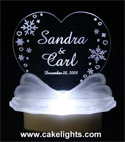 Glass Wedding Cake Toppers Marrie Destinations