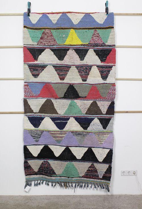 affaire46 - Handgewobener Vintage Teppich