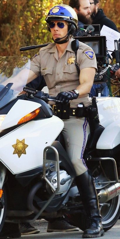 White blonde milf cops