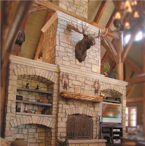 Cedar Ridge Country Blend Machine Cut Building Stone Epic Fireplace