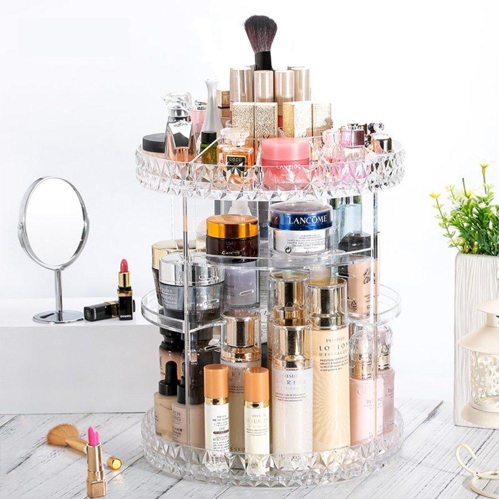 3034952d2074 360° Rotation Makeup Organizer in 2019 | skincare storage | Makeup ...