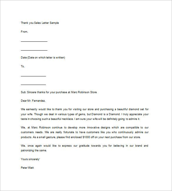 Real Estate Thank You Letter Free Sample Example Format Perfect