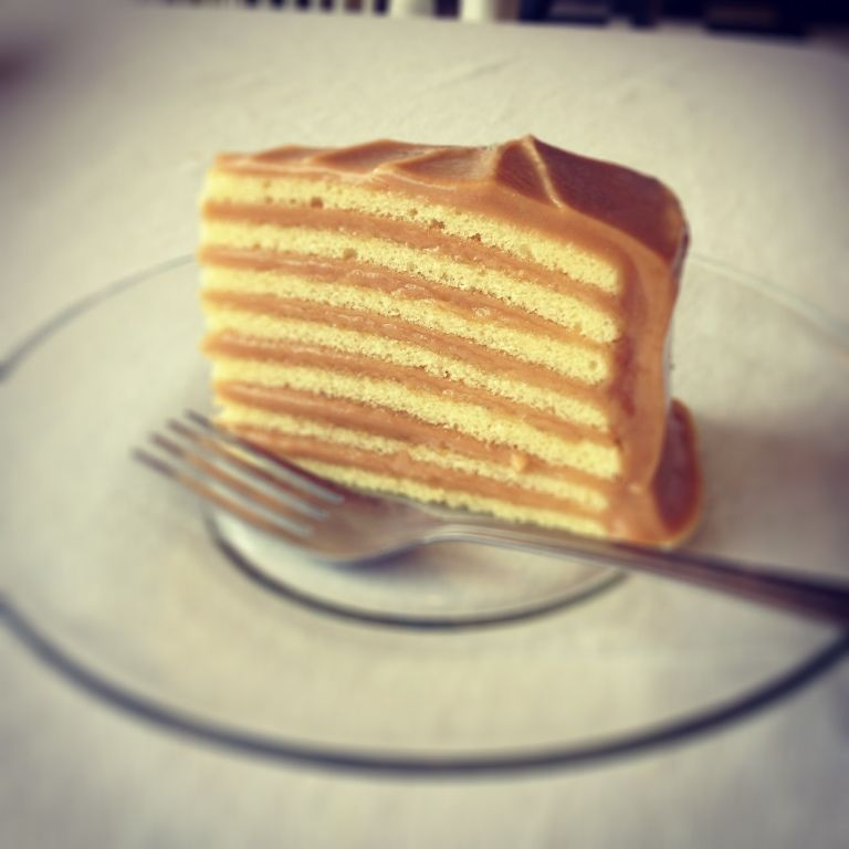 A little slice of Heaven! Caroline\'s 7-Layer Caramel Cake | Sweet ...