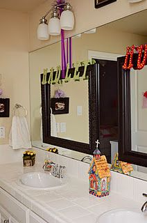 Large Bathroom Mirror Hang Backless Empty Frame By