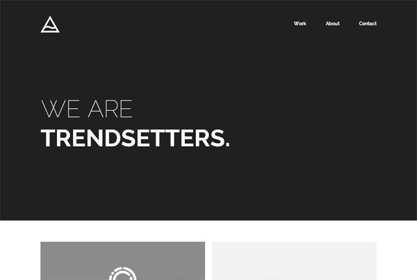 minimalist web design example theissland