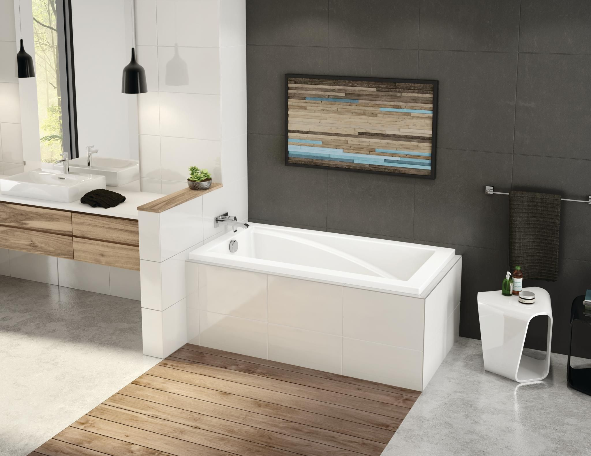 ModulR 6032 Corner Soaker Tub | Tubs and Corner