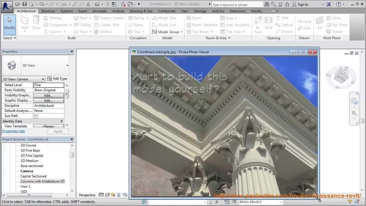 Ceiling Corinthian Capital Structure Architecture Revit Tutorial