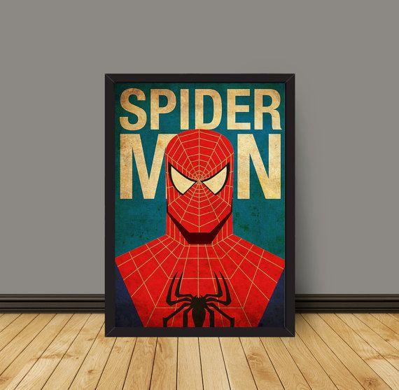 Affiche Spiderman minimaliste imprime