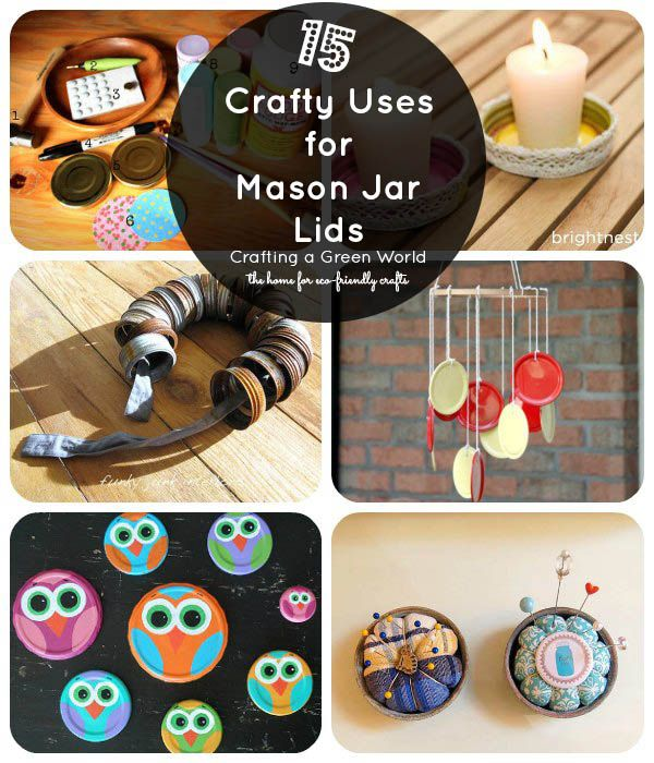 15 Mason Jar Lid Crafts Mason Jar Lids Crafts Jar Lid Crafts Mason Jar Lids