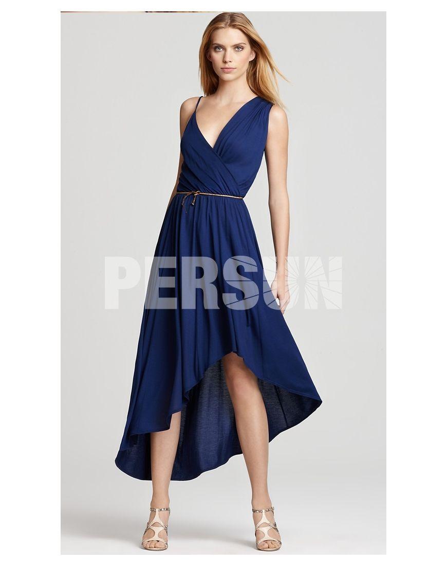 Semiformal dress in blue vestidos pinterest high low