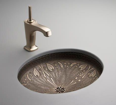 Cast Bronze Sink - new undermount lavatory sinks by Kohler ...