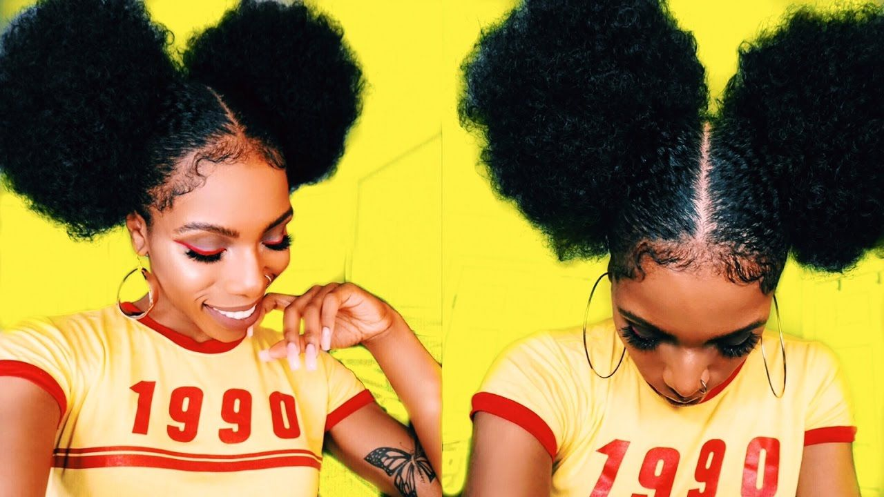 AFRO PUFF u BABY HAIR GOALSSTYLETORIAL ss INSPIRED
