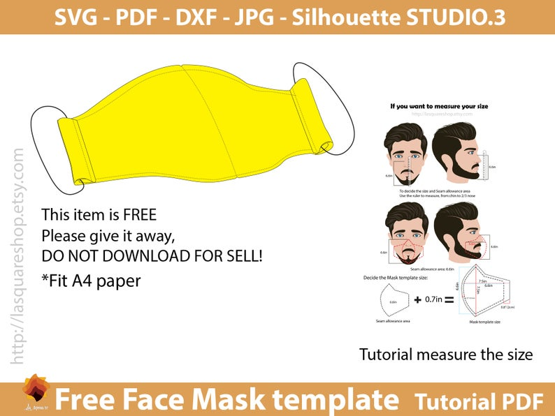 Free Face Mask Templates Svg Face Mask Face Mask Printable