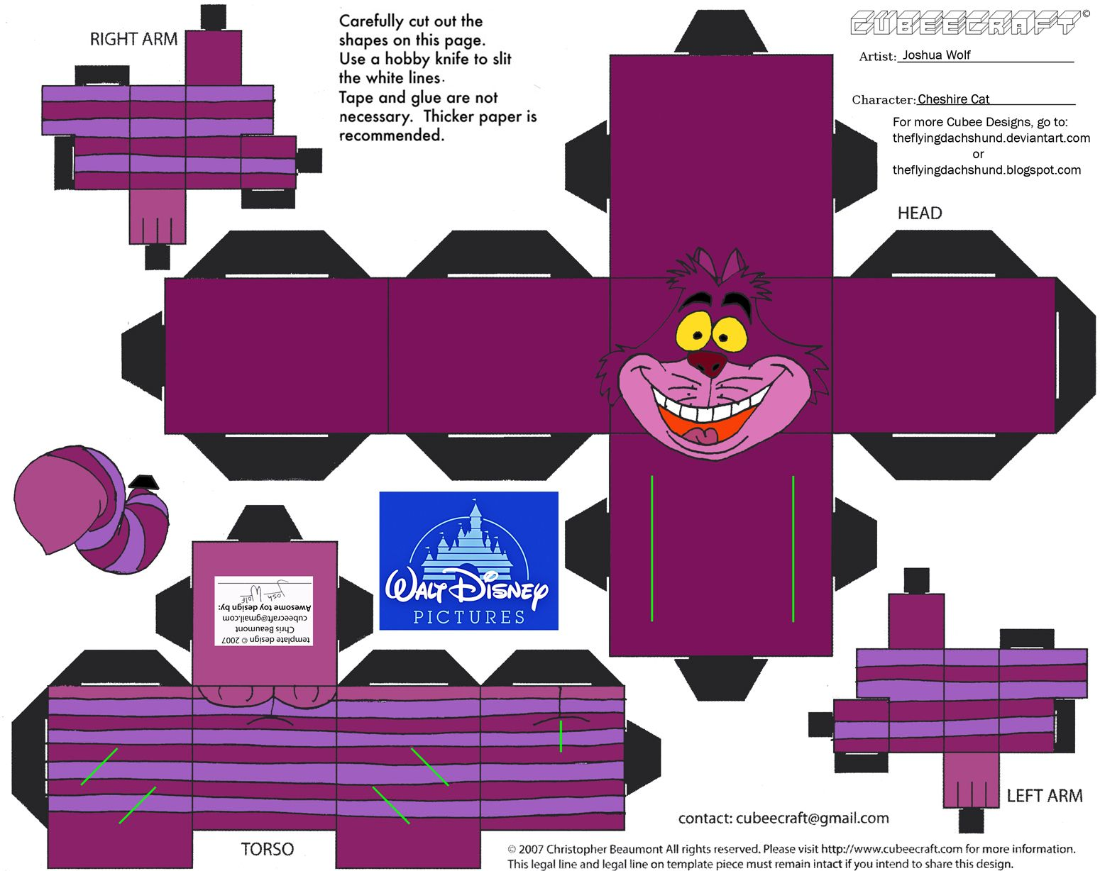 Dis19 cheshire cat cubee by theflyingdachshundiantart on 3d paper pronofoot35fo Choice Image