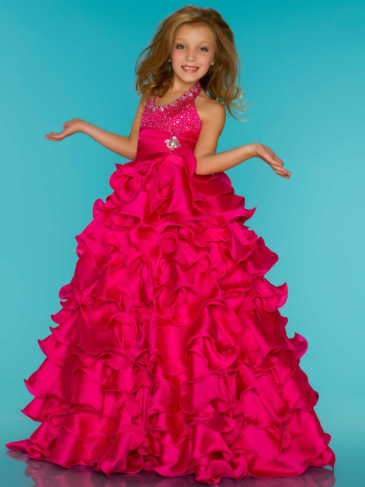 Light pink! Fairy tale organza pageant dress Sugar by Mac