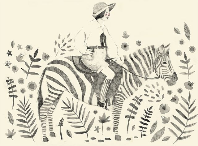 Warm heart of Africa. by Clare Owen Illustration, via Flickr