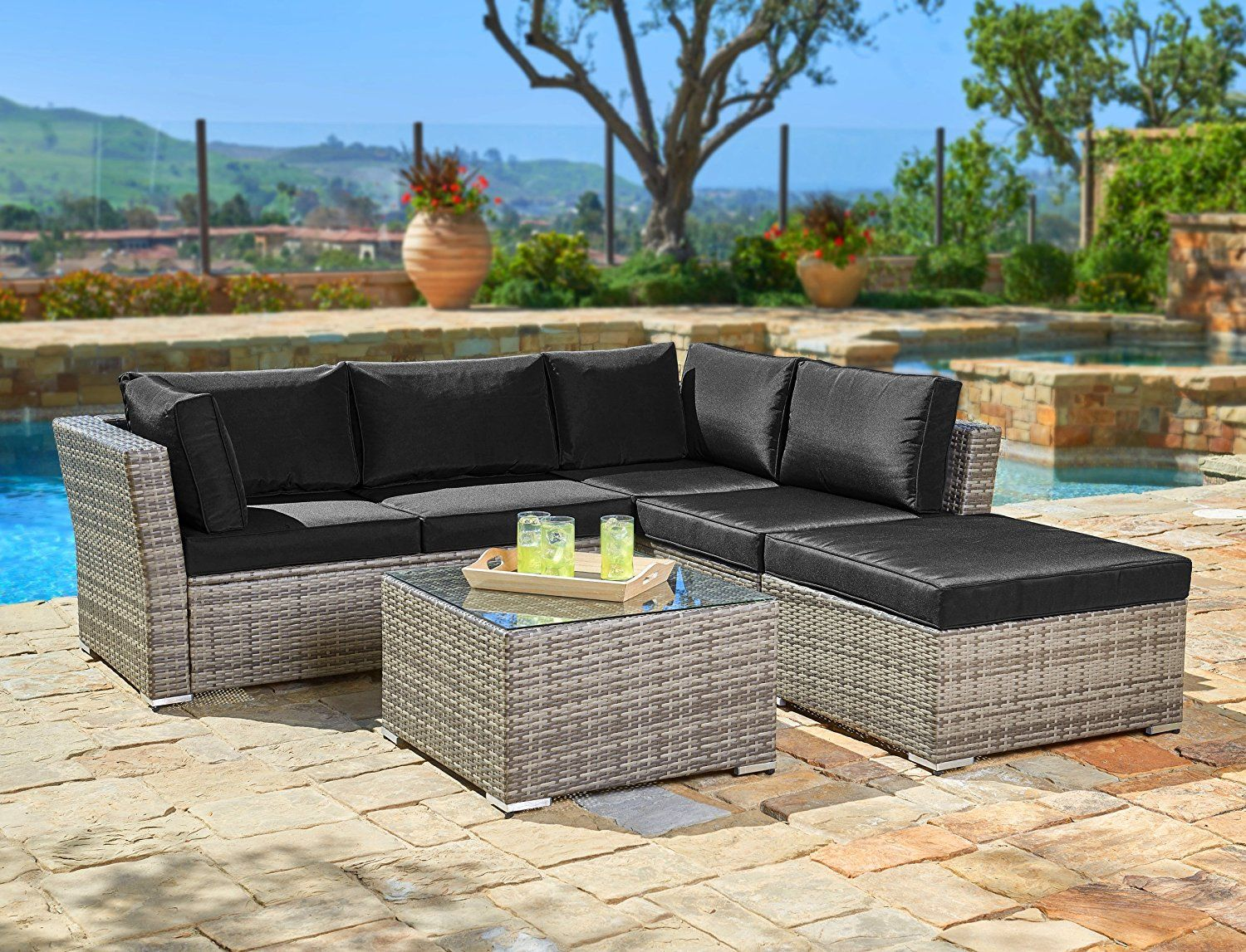 Suncrown Outdoor Furniture Sectional Sofa (4