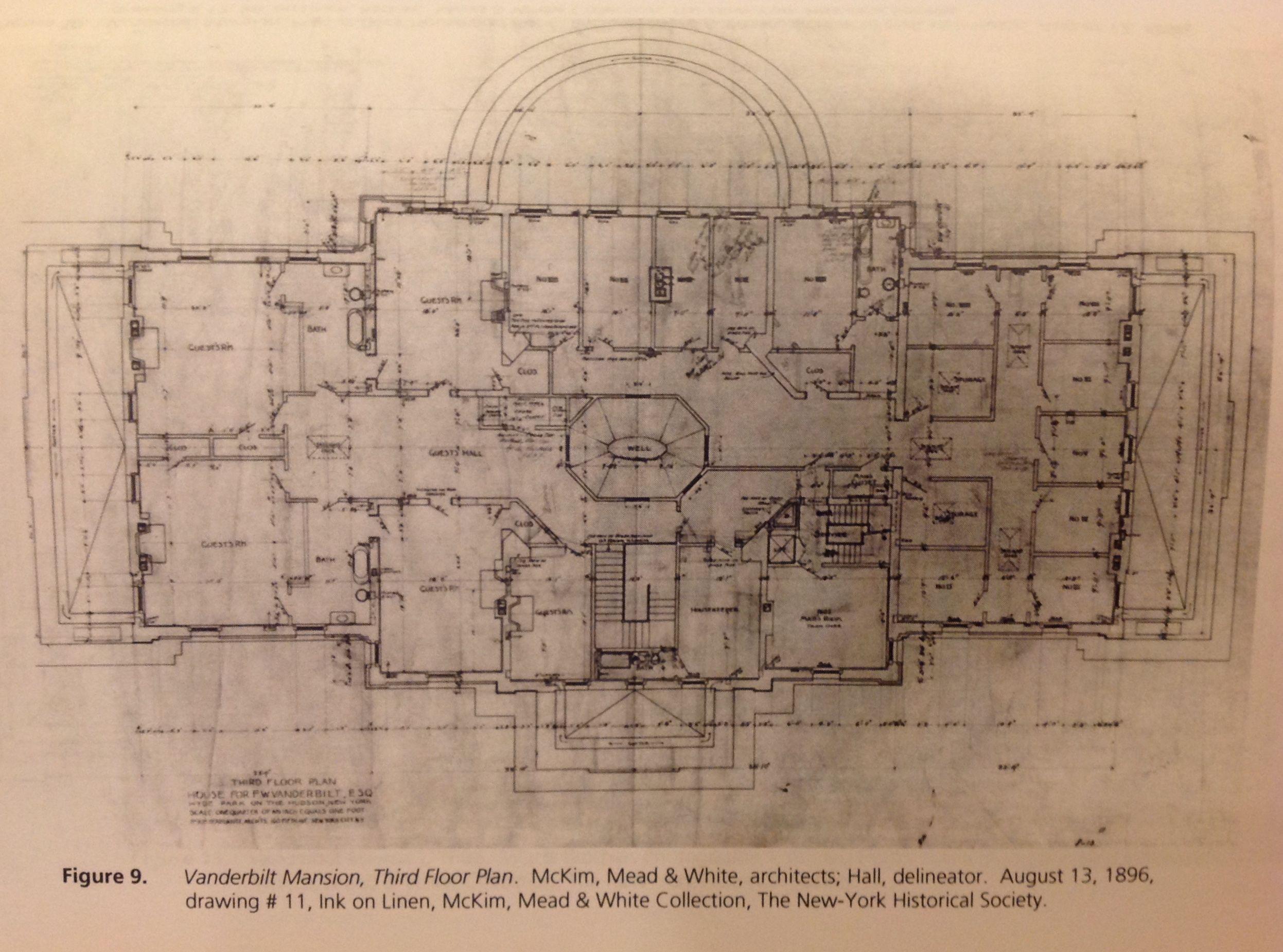Vanderbilt mansion hyde park 3rd floor gilded age for Hyde homes floor plans