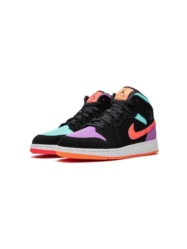 Nike Kids Air Jordan 1 Mid Gs Candy Farfetch Jordan Shoes Girls Shoes Sneakers Jordans Hype Shoes