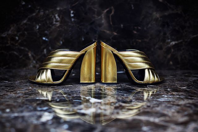 71c5c85b8 Shoe Of The Month: Gucci 'Sylvia' Crossover Metallic Mules (5 inch ...