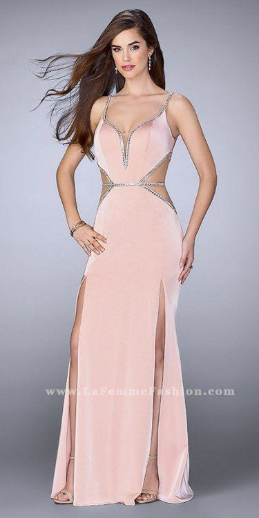 Bold and daring, this Jersey Double Slit Side Cut Out Prom Dress by ...