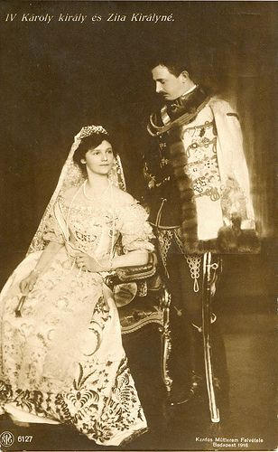 Charles IV of Hungary and Zita, Queen of Hungary in Hungarian clothing Austria, Die Habsburger, Impératrice Sissi, Franz Josef I, Hungary Travel, Hungarian Embroidery, Austro Hungarian, Ludwig, World War One