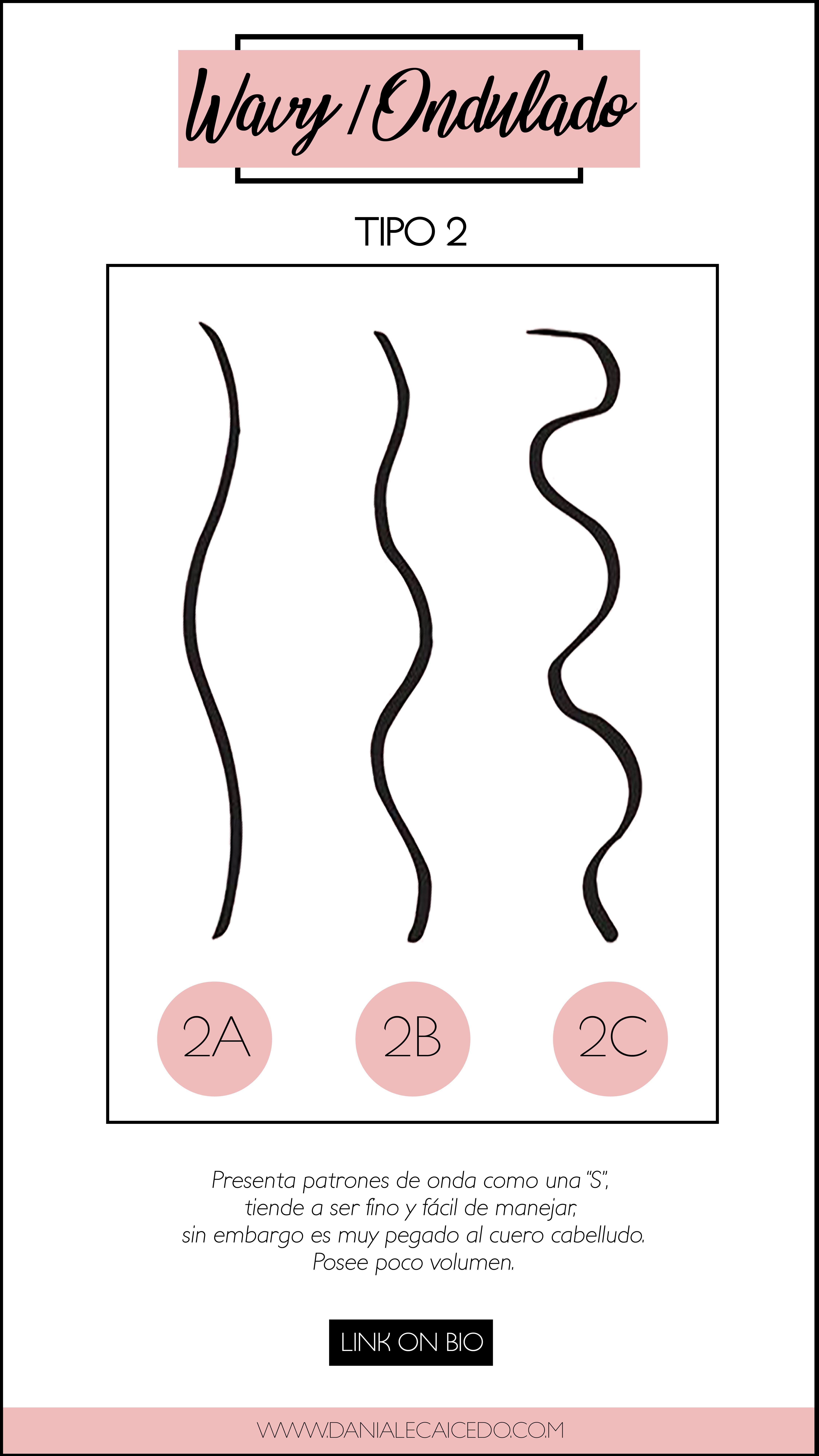 Cabello Ondulado Wavy Hair Tipos De