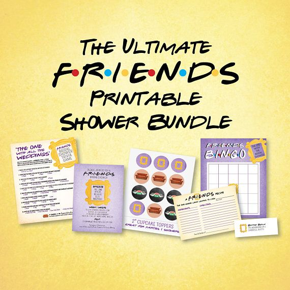Friends Themed Bridal Shower Invitation Friends Themed Shower Games
