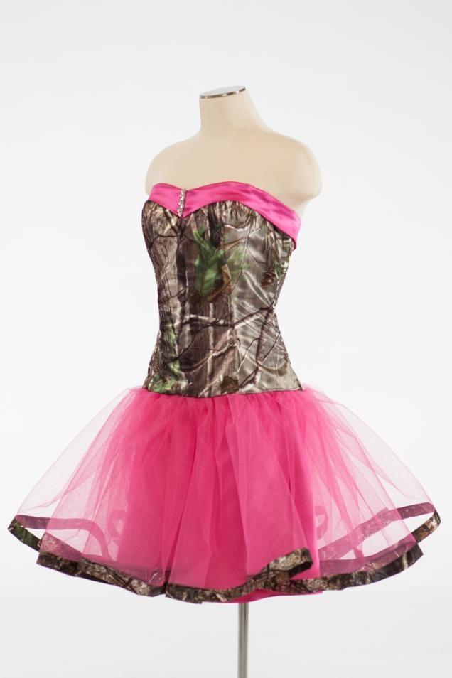 this will be my bridesmaid dress\'s ! #pinkandcamo #realtree ...