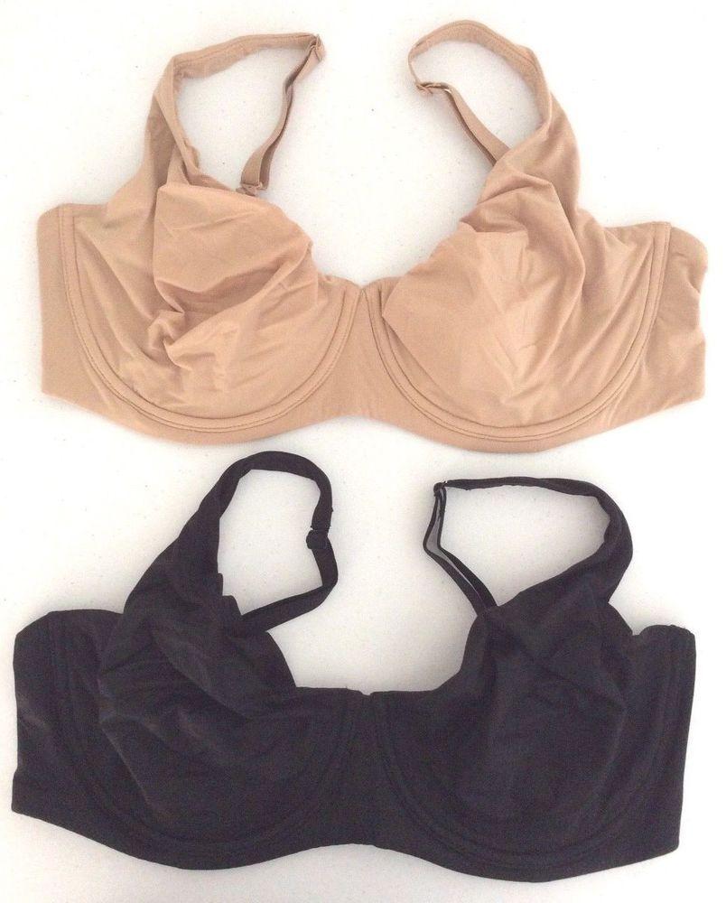 38c16bee65 NEW Victoria Secret Body By Victoria Unlined Black Beige Demi Bra Set 40DDD  NWT  VictoriasSecret  Demis