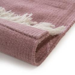 Photo of benuta Wollteppich Blok Cream/Rosa 160×230 cm – Naturfaserteppich aus Wolle benuta