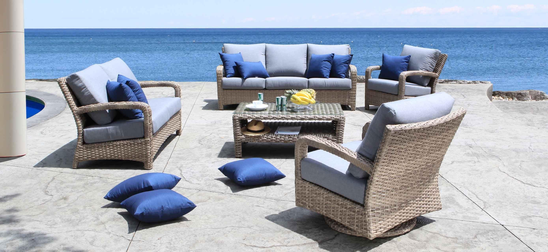 Pacific Outdoor Wicker Patio Furniture Conversation Set Outdoor