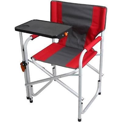 Director Chair Camping Outdoor Folding Table Aluminum Frame Seat Heavy Duty Red Outdoor Folding Table Camping Furniture Directors Chair
