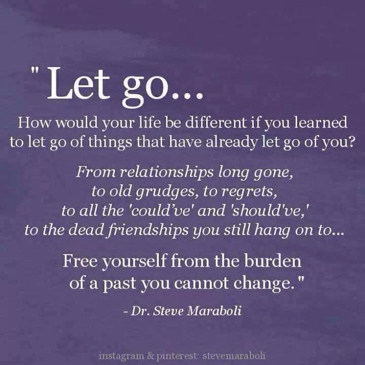 Free yourself from the burden of a past you cannot change :)