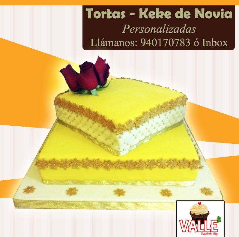 Torta de Novia, forrada con masa elástica