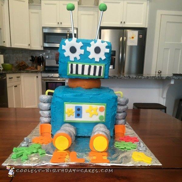 Coolest Robot Birthday Cake Birthday cakes Robot and Birthdays