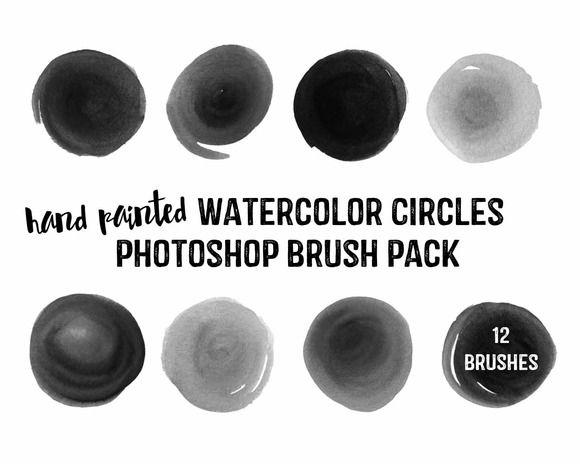 Watercolor Circles Brush Pack