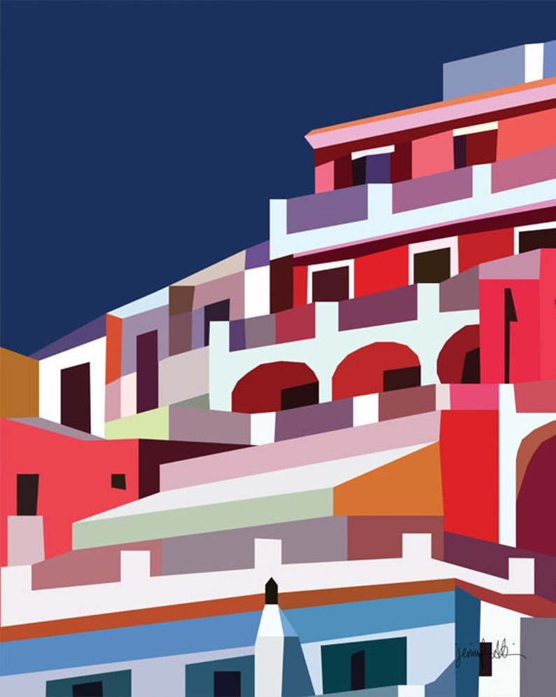 Colorful Printable Wall Art Architecture Print Positano Italy Print Large Wall Art Colorful Art Architectural Art Amalfi Coast Poster Print In 2020 Architectural Prints Italy Print Poster Prints