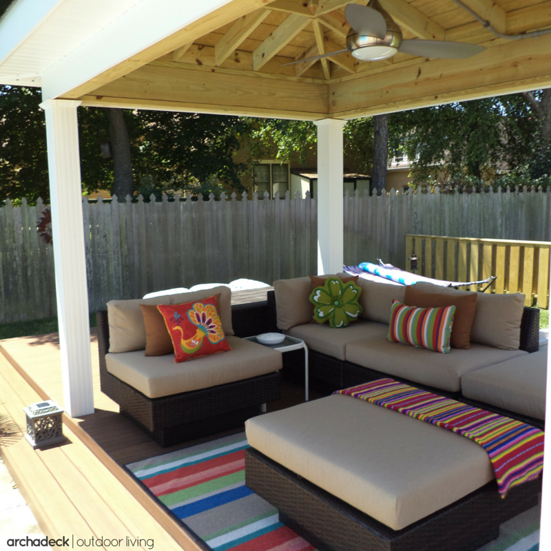 35 Cool Outdoor Deck Designs: Add A Little 'oomph' To A Covered Deck Or Open Porch With