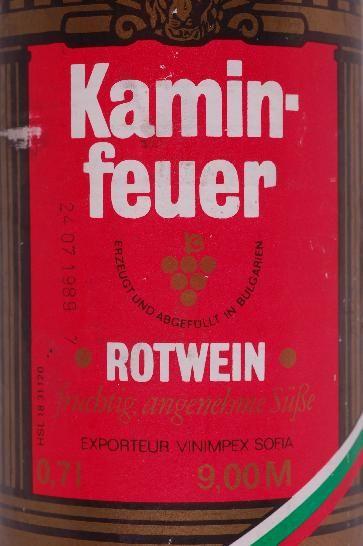 Ddr Museum Museum Objektdatenbank Rotwein Kaminfeuer