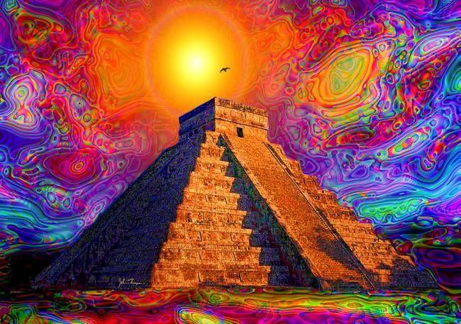 Mayan Temple Art