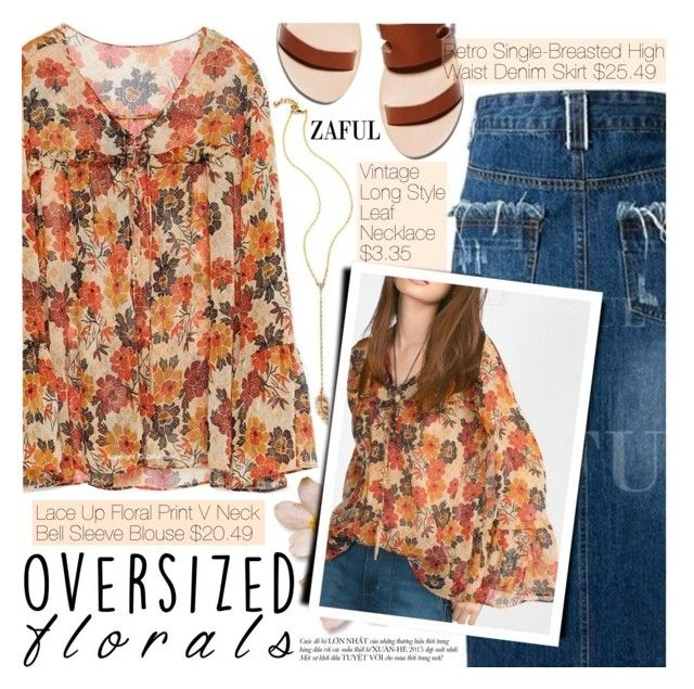 """""""Oversized Florals"""" by pokadoll ❤ liked on Polyvore featuring vintage"""