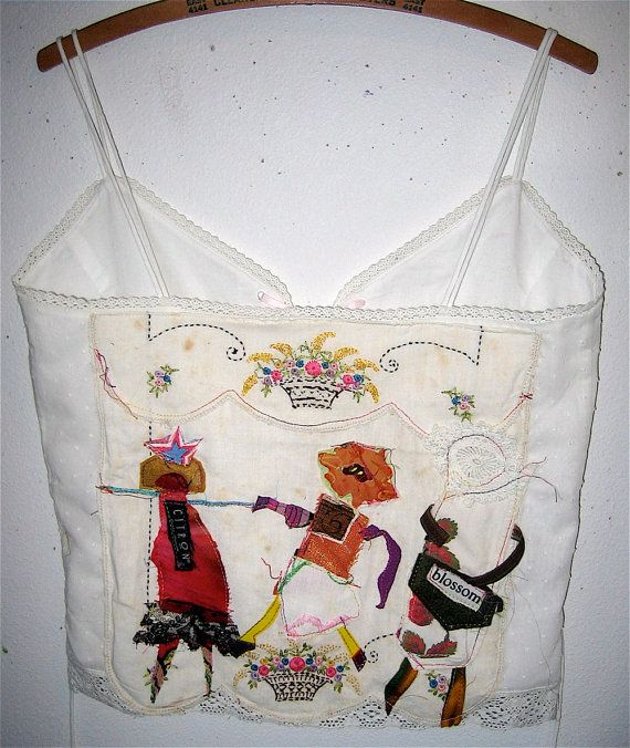 Ralph Lauren Upcycled Corset Collage Top Vintage Fabric mybonny