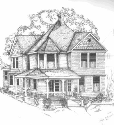 Simple Pencil Drawings of Houses  Mindy L Bryant 1955   drawings in 2019  Pencil drawings