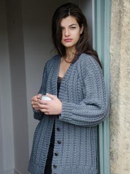 Big Wool, Rowan - Boyfriend cardie - lovin' it. | Knitting ...